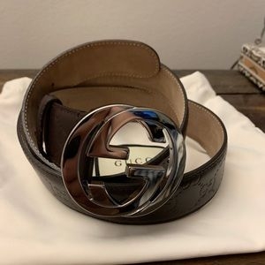 Gucci Accessories - Gucci belt Brown embossed leather